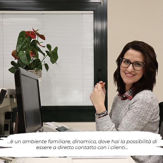 Michela Meneghin a lavoro
